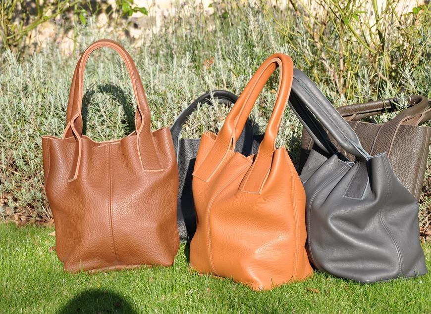 Lederen handtassen