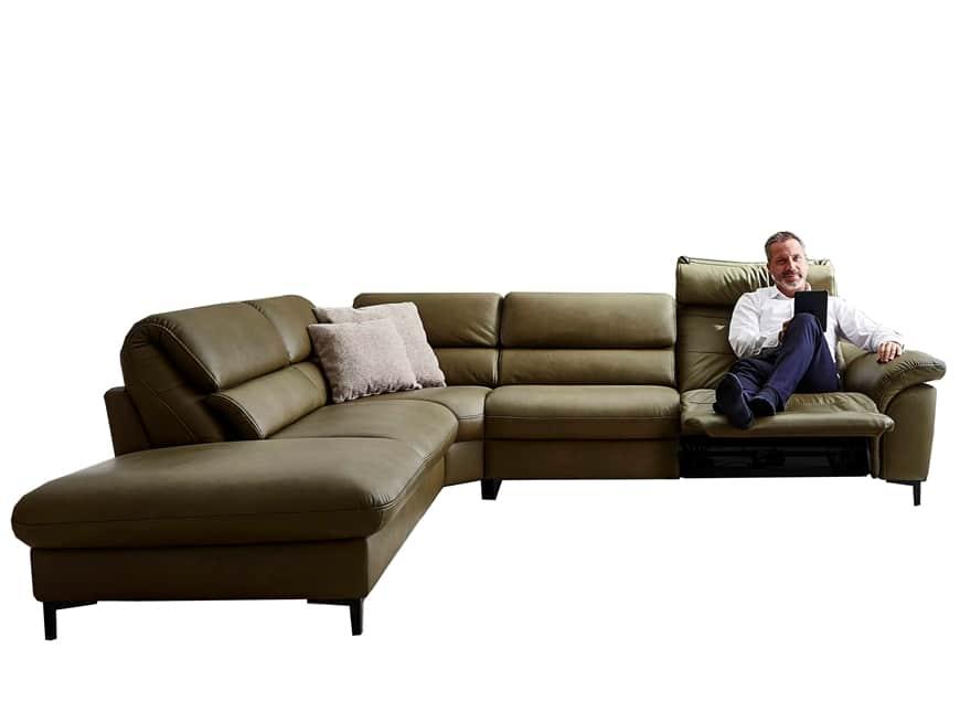 www.zetelhuys.be relaxsalon, elektrische relax, verstelbare hoofdsteun, Hukla, kwaliteit, leder, Flexus, longchair, hoeksalon, klaprug