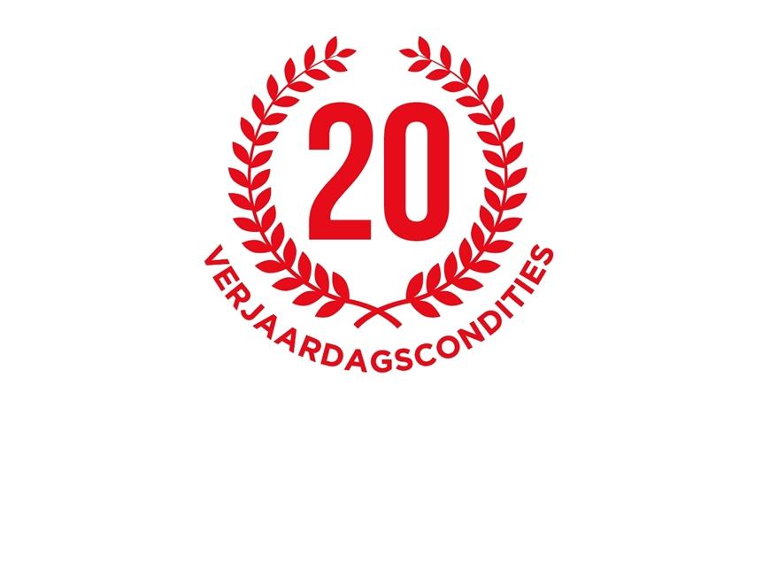 Verjaardagscondities 20 jaar 't Zetelhuys