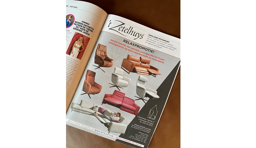 't Zetelhuys in Nina-magazine